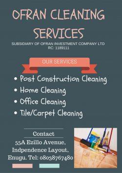 Ofran Cleaning Services Enugu